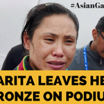 Its all happening! Sarita leaves her bronze at the podium, reports @mihirsv. RIGHT THING TO DO? #AsianGames2014 http://t.co/nxm4HilzZ9