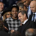 """#PSGBAR : Au Parc des Princes, le trio Beyoncé, Jay-Z et """"Sarko-Z"""" >> http://t.co/WOPgjA147z http://t.co/TckVm1EfXw"""