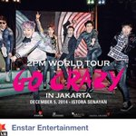 RT @kpopnesia: [CONFIRMED] Upcoming Concert in Indonesia. 2PM World Tour Go Crazy in Jakarta on Dec 5 @ Istora Senayan. @enstarent http://t.co/vmT3KkGNqQ