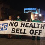 Well done @NHSatMB for telling #CPC14 & @David_Cameron to stop selling the #NHS http://t.co/ZGpCXD1Vm2