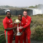 The highest #CWCTrophyTour photo so far!? Latest stop is a visit to the stunning Victoria Falls in Zimbabwe #cwc15 http://t.co/iA7DSfVx5t