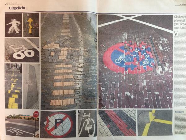 Mooie verzameling in de Volkskrant vandaag, van stratenmakers die het niet zo precies namen... http://t.co/5UpA113RGu