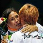 RT @Sports_NDTV: Sarita shows sportsman spirit. Despite controversy,hugs Jina after medal ceremony http://t.co/YfIp37QSJH #AsianGames