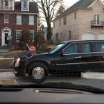 Photo: President Barack Obama and First Lady Michelle Obama ride in the presidential… http://t.co/13rnXufMWv http://t.co/zSesaHa5zq