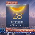 RT @24HorasTVN: El tiempo para este miércoles y lo que queda de semana en #TuMañana, con @IvanTorresTVN → http://t.co/mOvDJMvuOH http://t.co/WZTCQ0APK3