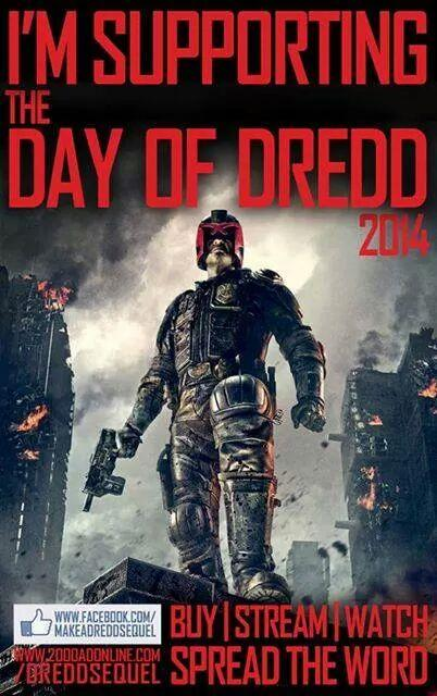 Don't forget that it's #dayofdredd go watch it, buy it, stream it.. @Postabargain http://t.co/nyDQZjAPFe