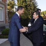 El Rey recibe al Presidente de Honduras, Juan Orlando Hernández, en el Palacio de la Zarzuela. http://t.co/3cYiHeBo8L http://t.co/uCS9yrmoMx