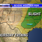 Tracking the threat for severe storms Thursday evening across #ETX. Details this morning on #GMET from 4:30am-7am. http://t.co/b6Xq5I2lLF