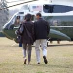 Photo: President Barack Obama and First Lady Michelle Obama walk to Marine One on the South… http://t.co/YObQjEfJVt http://t.co/LlB5t0O5o2