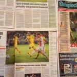 '#Ajax doet zichzelf tekort'. Het krantenoverzicht van #apoaja lees je hier: http://t.co/iAyKoUlTCH