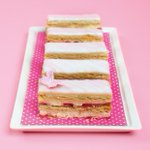 #BakeUpWednesday Strawberry Millefeuille by @SquiresKitchen http://t.co/Q8I2Mmspk2 #pastry #win #GBBO #patisserie RT http://t.co/DvxZf7PCDD