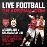 You can follow TWO matches on @Arsenal Player today, starting with a live video stream of #AFCU19 v Galatasaray http://t.co/3LlEd8Kw4M