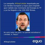 El éxito de #StopCañete es el fracaso de Rajoy su poĺitica, su ética y su desvergüenza @equo @EquoEuropa https://t.co/hmJb4UzpFY