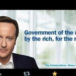 RT @UKuncut: .@David_Camerons latest real election poster says it all #CPC14 http://t.co/VhCvnEU6QB