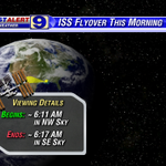 RT @SteveWAFB: Skies permitting in your neighborhood, nice chance to see the Space Station this morning. #ISS http://t.co/Y4MzbHbigZ