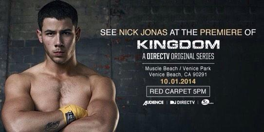I have a few episodes on @KingdomDIRECTV all my scenes are with/bout @nickjonas a great actor. Set your DVRs. Ladies: http://t.co/ugEu1x24h0