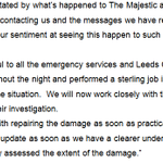 """RT @BBCLeeds: """"We are absolutely devastated"""" - full statement from the owners of the fire-hit Majestic in #Leeds: http://t.co/rDCTZCV6ON"""
