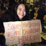 """Sorry for inconvenience we are changing Hong Kong"" #PoliteRevolution http://t.co/URnVFqTOyC"