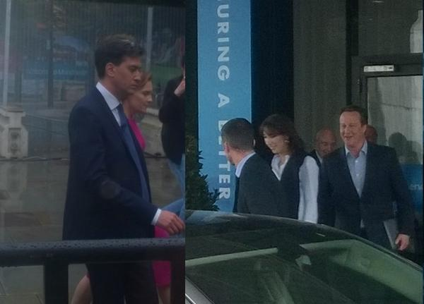 I saw both Miliband and Cameron after they'd given their speeches. I'd say this sums it up. #CPC14 http://t.co/AsfGf5z3r9