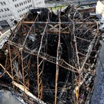 Looking down on the roof of former #Majestyk nightclub in #Leeds following a major blaze which broke out yesterday. http://t.co/oQDIkVKRNc