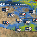 RT @jeffbeamish: Afternoon breezes developing along the border today as a cold front passes north. Highs remain in the 80s. #azwx http://t.co/BetkIAMxVg