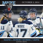 Womens Hockey takes on Robert Morris this Friday, October 3rd at 7:00pm! #BlackBearNation #GoMaine http://t.co/9fePoZHzO8