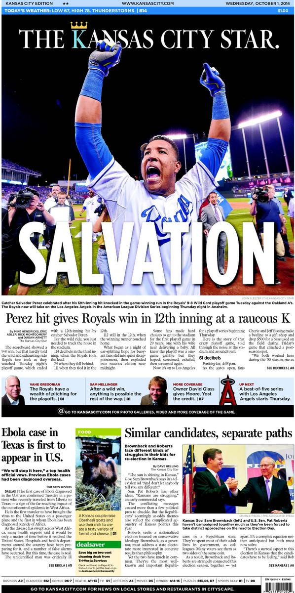 Today's front page #Royals http://t.co/FOAMLDs0Va
