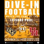 Leisure pool + @UCF_Football = the perfect Thursday night for #UCF students! #BeatHouston #ChargeOn http://t.co/lFCvse9Tx1