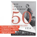 What does #freespeech mean to you? Tweet w/ #FSM50 today—win a limited-edition poster (http://t.co/fNWpnVsU0Q)! http://t.co/yRd0Dag9kz