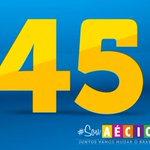 RT @_souaecio: Vamos espalhar 45 por todos os cantos! Aécio será o próximo Presidente do Brasil! http://t.co/7mf7g8601t