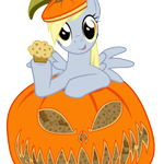 Happy 1st of October! Now that it's officially pumpkin season, have a Derpy in a Pumpkin with Muffins. http://t.co/baUX9Ky78R