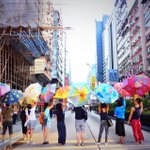 Oct 1 #UmbrellaArt: umbrella paintings by #HK artists in #Mongkok #OccupyCentral #HK #UmbrellaMovement http://t.co/98yRfsCEM3