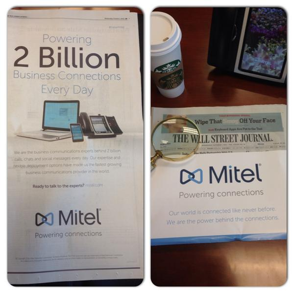 It's official, Mitel has a fresh new look to reflect its customer focus, 100+ Countries, 60 million users #NewMitel http://t.co/HwhJh9dJeY
