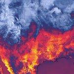 """RT @webcamsdemexico: Espectacular imagen @NOAA Las temperaturas ayer en Norte América, entre """"fuego"""" y """"hielo"""" via @weathernetwork http://t.co/wP0a8V8u8q"""