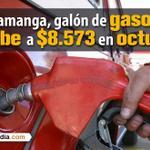 Gasolina sube a $8.573 y el Acpm aumenta a $8.306,07 en el área metropolitana de #Bucaramanga http://t.co/WYFLoW8qXM