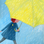 """More #UmbrellaArt from our readers: painting """"Hearts eager for freedom"""" by artist Kori Song http://t.co/Ryr4UUAgxt http://t.co/s58yGG4tNE"""