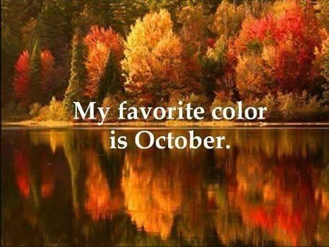 Awesome My Favorite Color Is October. @SuzanneLepage1 @10MillionMiler #quote  #nature #beauty