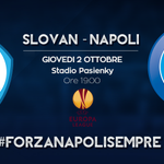 Giovedì ore 19.00 stadio Pasienky #SlovanNapoli #UEL #ForzaNapoliSempre http://t.co/EhosBhd872