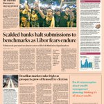 Just published: front page of the Financial Times US edition Thursday Oct 2