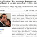 RT @pablolirar: El Contralor Ramiro Mendoza dice la verdad... mientras en La Moneda dan vueltas en círculos. http://t.co/sfBkgIKe3V
