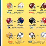 Heres your #SEC football schedule for this week: http://t.co/R9KckqF6Xt