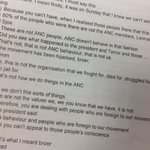 """RT @DenzilTaylor: #SpyTapes ... """"Thats not ANC behavior .. Not how we do things in the ANC .. We have been hijacked broer"""" http://t.co/NrYBmRAGtQ"""