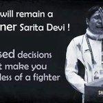 Laishram Sarita Devi Indian woman boxer from Manipur.national champion&gold medal inWorld championship #saritadevi http://t.co/PFKBV9rZNj