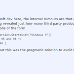 A Microsoft developer explains in a Reddit thread why Windows 10 is called Windows 10. http://t.co/qJFi8yJEJg