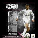 Javier Hernández será titular en el duelo de la Champions League entre Ludogorets y Real Madrid. http://t.co/nMbbOLJ2nA