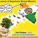 RT @DDNational: Launch of Swachcha Bharat Mission by PM @narendramodi @8:50 am LIVE-STREAM on: http://t.co/tvBLfSvoeG @PMOIndia http://t.co/htUQO1DZUV