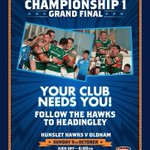 RT @Leeds0113: If youre at a loose end this Sunday, why not get yourself to Headingley to cheer on South Leeds @HunsletHawksRL http://t.co/rWeZSW5z0L