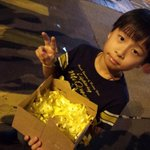 RT @01Micco: Another young supporter -aged 8- distributing yellow ribbons in Mongkok last night #umbrellarevolution #Occupycentral http://t.co/7OdOXw0kq7