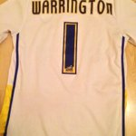 Boxer @J_Warrington on pitch at ER tonight. I wore this #LUFC shirt to his fight in MANCHESTER. That WASNT clever ???? http://t.co/zP1iWAZBvZ