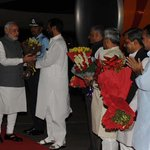 RT @PIB_India: PM @narendramodi being welcomed on arrival by Union Minister, Ram Vilas Paswan at Palam airport #PMUSVisit http://t.co/77p9bS7K3E